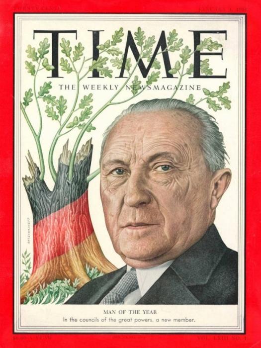1953: Конрад Аденауэр.