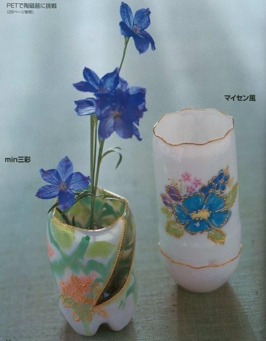 Цветы из бутылок картинки 7