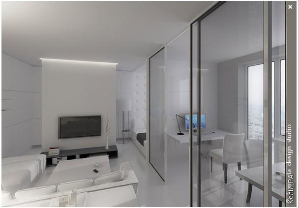 """Дизайн маленькой однокомнатной квартиры от московской студии """"Комната"""
