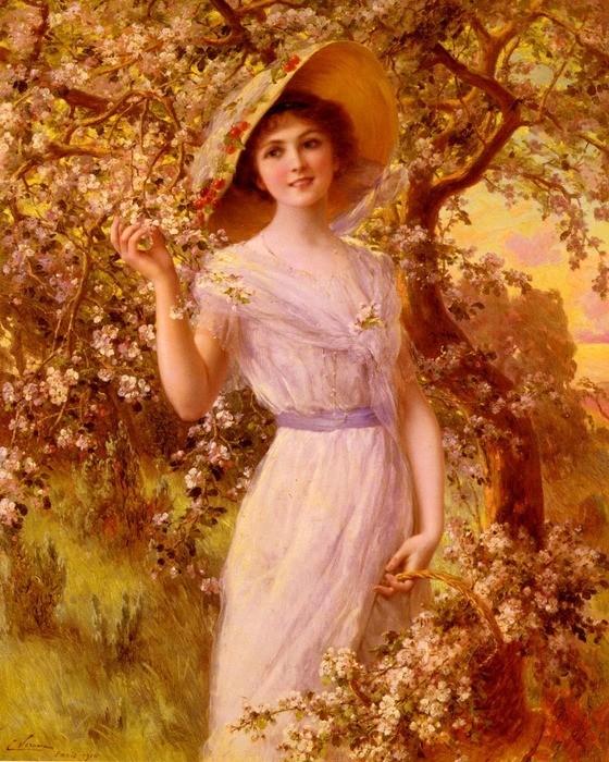 Emile Vernon - Cherry blossom, 1916