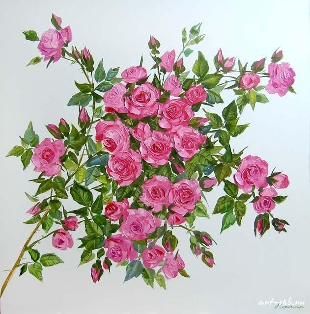 ветка чайной розы