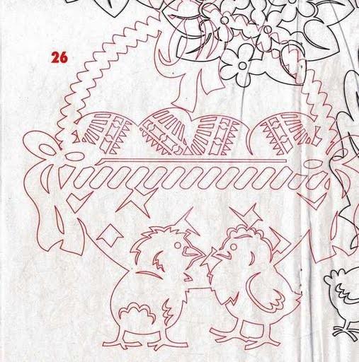 Несколько схем для пасхальных вытынанок - поделок из бумаги.  Лучшие темы.  Маки из пластики - как сделать поделки...