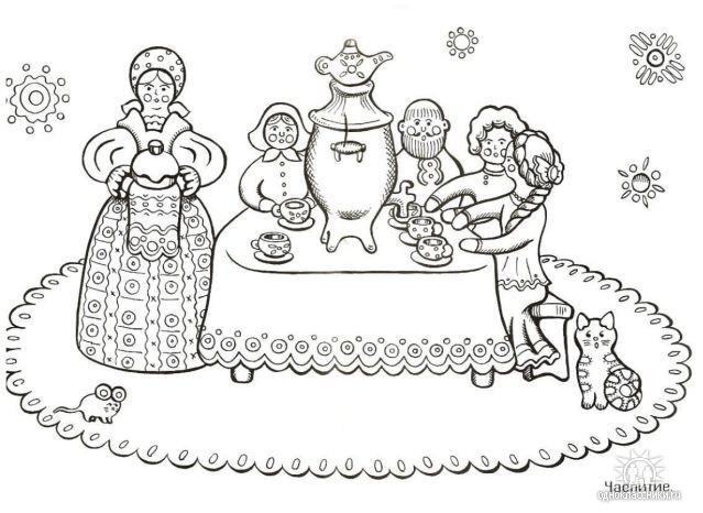 Раскраски для детей 2 3 лет дымковская