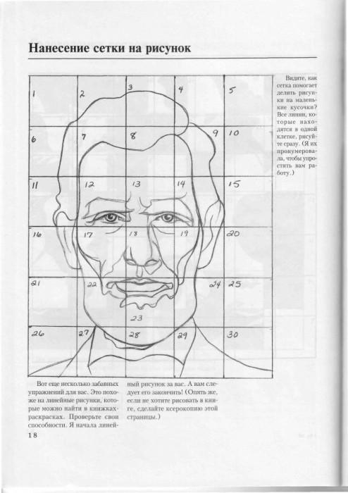 Рисуем по сетке портрет