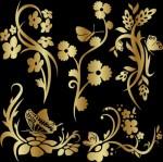 18.08.2009. Красивый орнамент в векторе, завитушки, цветы, бабочки...