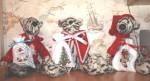 Три тигренка с подарочными мешочками (вышивка крестиком)