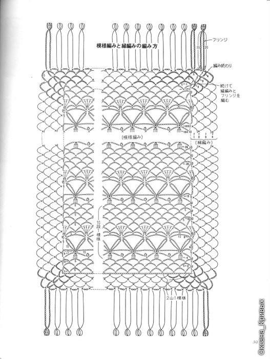 Образец вязания желета на спицах