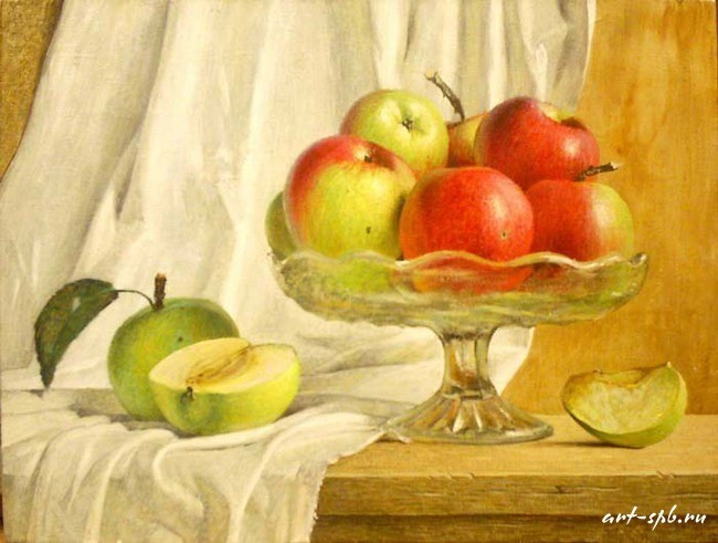 Яблоки в вазе Рыжий Николай