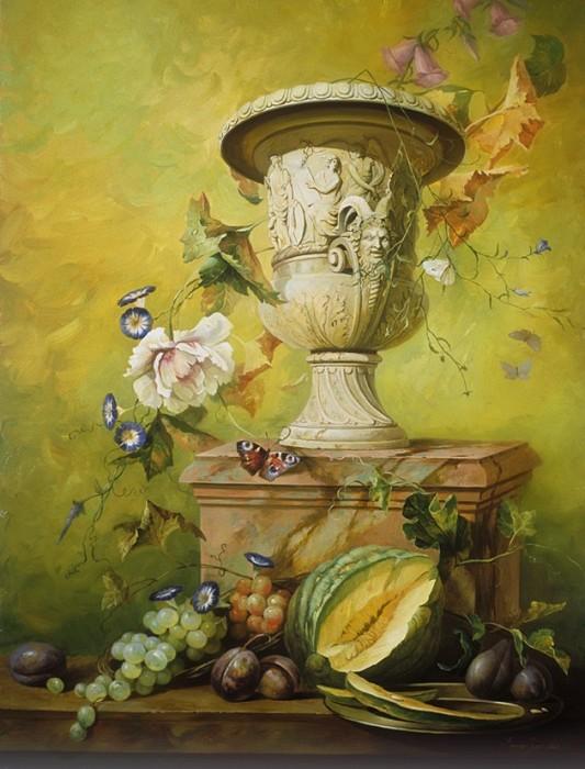 Ирина Волкова - Натюрморт с мраморной вазой.