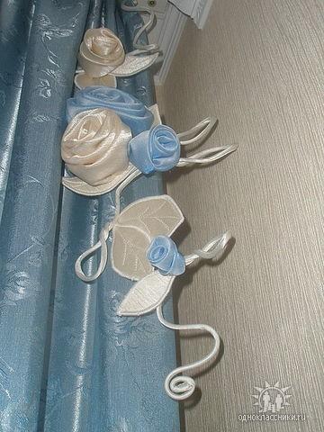 На шторы украшения своими руками
