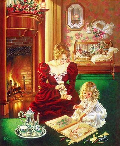Схема Материнская любовь ,Heaven & Earth Designs,Схемы для вышивки крестом,Печатная продукция,люди, дети,.  Рукоделие.
