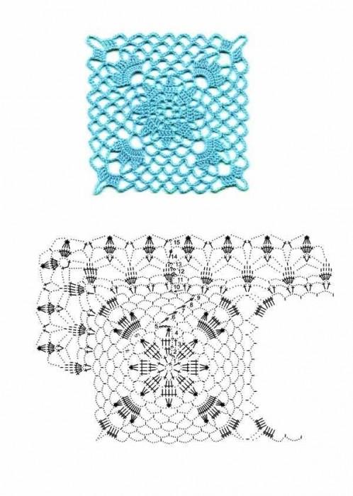 Вязание крючком: узоры связанные из.