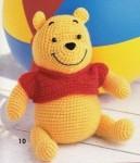 Посмотрите как можно связать крючком медведя.  Схемы вязания все есть.  Удачи Отличный Винни.