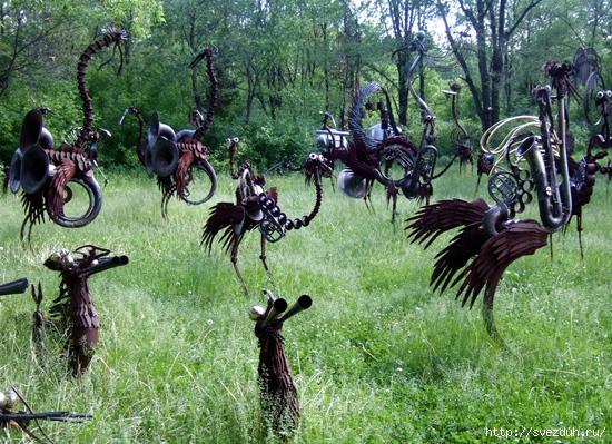 стимпанк скульптуры