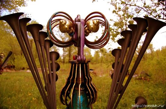 металлические птицы