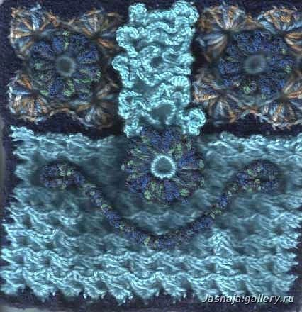 вязаные платья с шарфом, филейное вязание сумки.