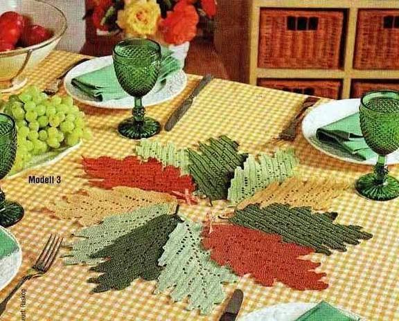 И будут у вас листья и желтые, и... Это филейное вязание.  Каждая пустая клеточка - незаполненная ячейка...