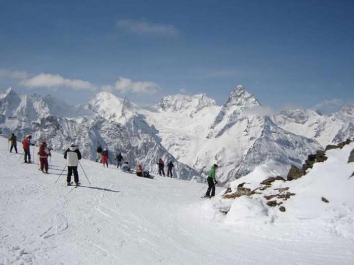 на лыжных трассах