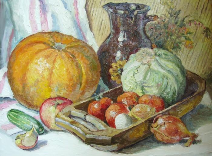 Натюрморты фото с овощами