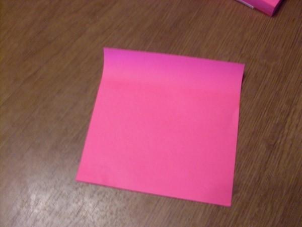 1) Что мне нужно для коробочки - бумага.   Я взяла бумагу для записей.