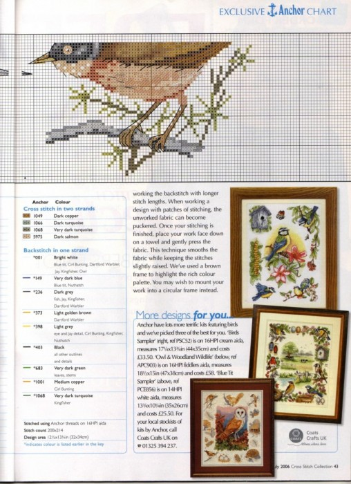 cross stitch collection: flying high