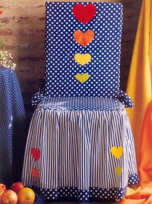 Подушечки на стулья своими руками