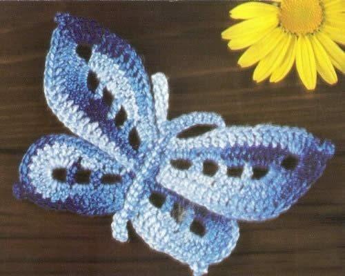 Бабочки, вязаные крючком - 9