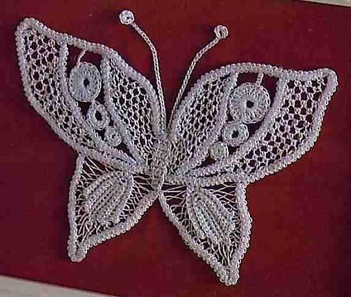 Бабочки, вязаные крючком - 10