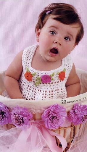вязаные детские платья спицами с описанием.