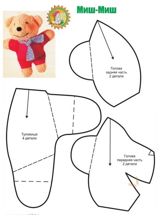 Выкройки игрушек для начинающих простые выкройки для мальчика