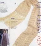 Цкпочка. как связать на спицах ажурный шарф - Выкройки одежды для детей и.