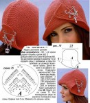 женская вязаная шапка спицами. зимняя шапочка спицами для девочки...