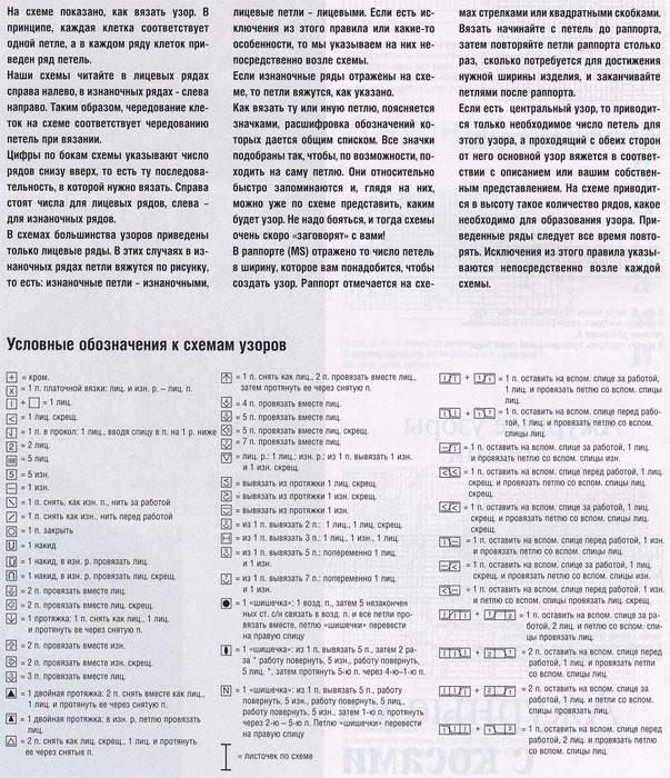 Полезные таблицы по вязанию.