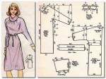 """Платье из трикотажа, рукав """"кимоно"""", воротник """"хомут""""  размер: 164-92-100"""