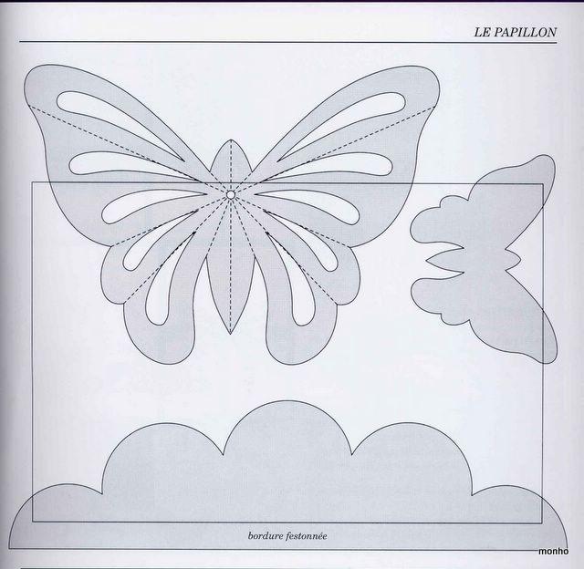 Бабочка на открытку своими руками из бумаги