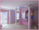 Удалённая работа Работа фрилансера Силка Ирина Ledy_Art Комната для девочки.  Ракурс 1.