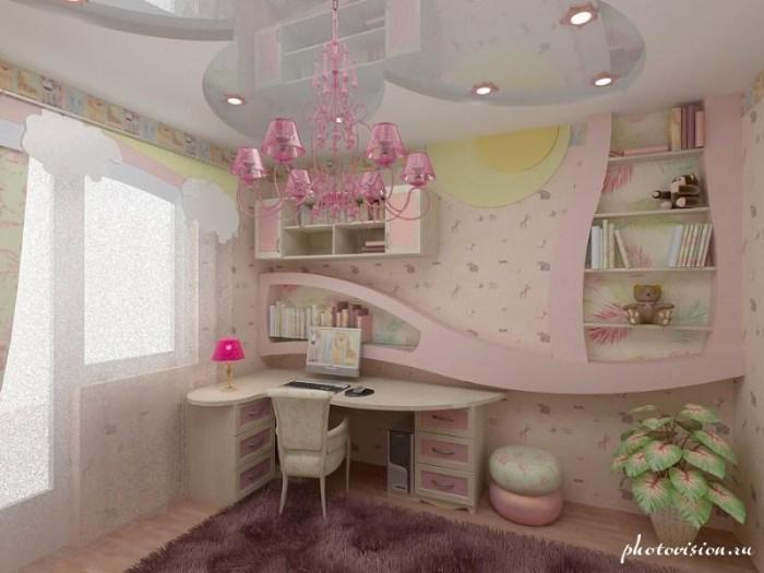 Ремонт детской комнаты для девочек своими руками