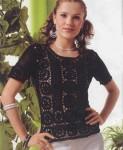 блузка с бюргерским  кружевом