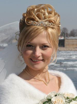 Фото на тему креативные свадебные прически технология выполнения.
