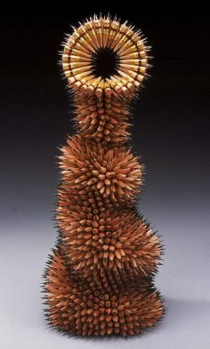 скульптуры из карандашей Jennifer Maestre