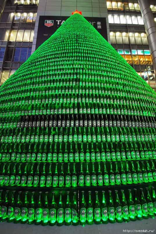 елка из бутылок heineken