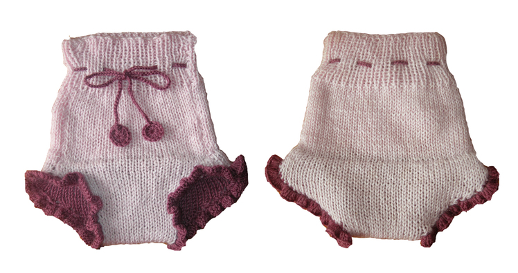 knitted baby: baby tights