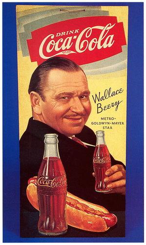 Рекламные ретро-плакаты Кока-колы.