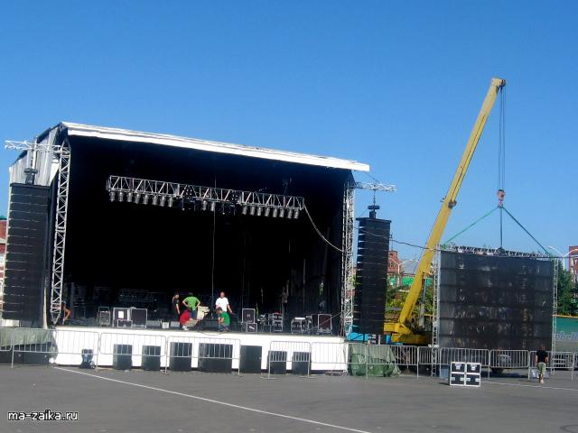 Концерт Билана в Саратове:сцена