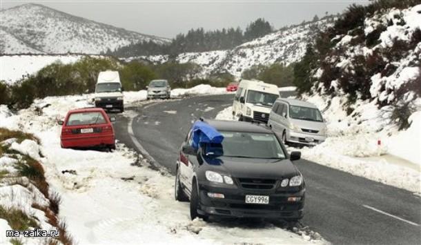 Снегопад в Новой Зеландии, 5 октября 2009 года.