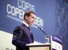 Дмитрий Медведев на конференции в Копенгагене, Дания, 18 декабря 2009 года.