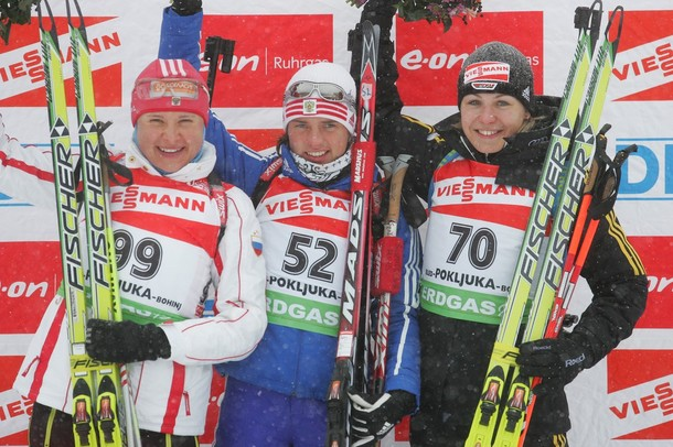 Биатлон, спринт 7.5 км, Словения, 19 декабря 2009 года.