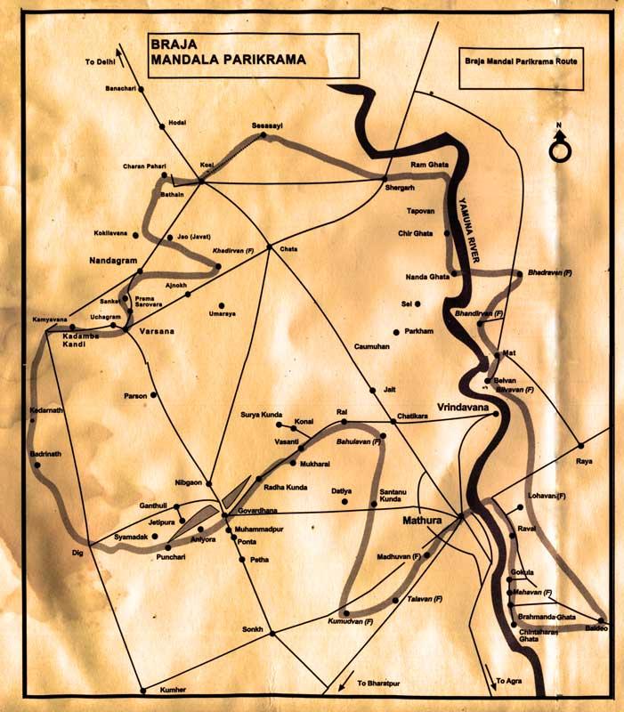Карта Браджа