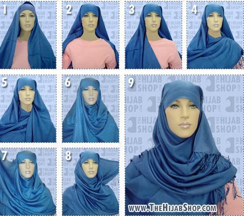 хиджаб - как повязать платок.