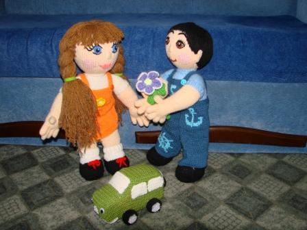 Игрушка Вязание крючком: Кукла мальчик.  Пряжа.  Фото 5.